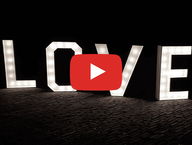 Love letters op je bruiloft video