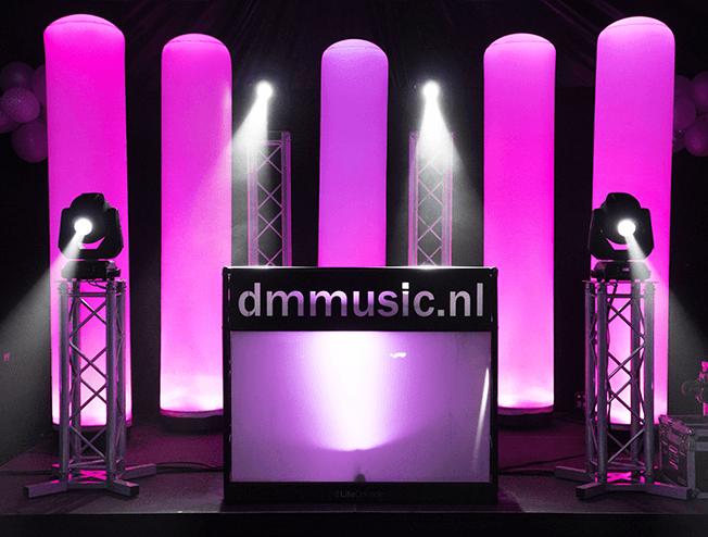 Bruiloft DJ show met luxe lichtshow