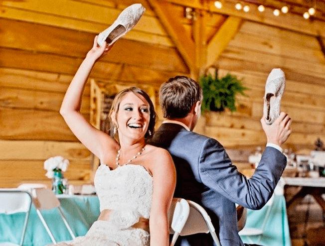 Stukjes op je bruiloft, het schoenenspel